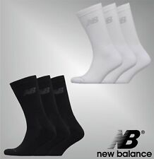 3 Pack Unisex New Balance Knitted Logo Soft Crew Socks Sizes from 3 to 12