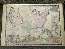 1861 Military Map United States by Johnson & Browning