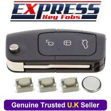 Ford 3 Button Remote Key Fob Case Repair Kit Fits Fiesta Focus B-Max C-Max S-Max