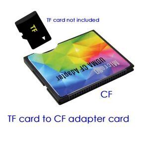 Micro SD TF to CF Card ADAPTER MMC SDHC SDXC COMPACT FLASH TYPE I UDMA