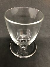 Antique Blown Clear Glass Egg Cup With Saucer Base 11M