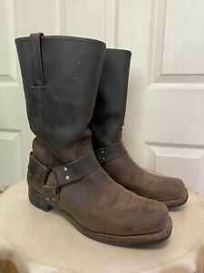 SoleTech Made in USA Brown Leather Men's Harness Motorcycle Boots 12 M