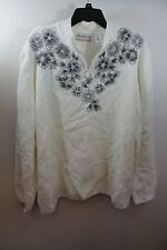 "3X ALFRED DUNNER WOMAN ""GLACIER LAKE"" IVORY SWEATER PULL OVER **FLAW**"