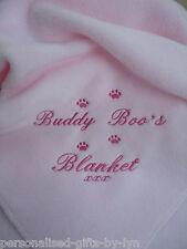 Personalizado Perro / Gato Manta disponible en 9 Colores