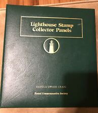 59 Lighthouse Mint Stamp Collector Panels & Binder US + Other Countries.