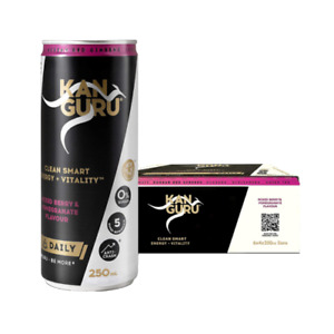 Kanguru Mixed Berry & Pomegranate Energy Drink - 24 can pack