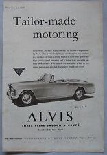 1959 Alvis 3-litre Saloon & Drop head Coupe Original advert No.1