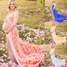 Lace Maternity Photography Props Maxi Strapless Pregnancy Dress for Photo Shoot