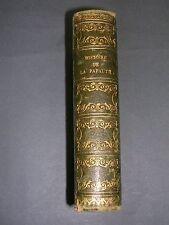 Papauté Henrion histoire de la papauté avec tavbe chronologique reliure 1832