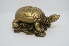 FENG SHUI TURTLE GOLD ~ ORNAMENT ~ STATUE ~FIGURINE