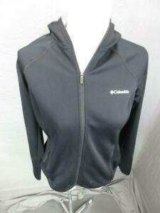 Columbia Size S Womens Black Athletic Full Zip Secured Pockets Hooded Jacket 292