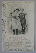 Vintage postcard German 1898 Postcard with motiv Marietta and Irma D Elvert