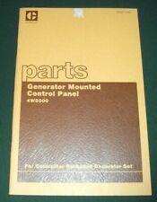 CAT CATERPILLAR GENERATOR MOUNTED CONTROL PANEL 4W8000 PARTS MANUAL BOOK