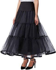 GRACE KARIN Women's Ankle Length Petticoats Skirts Wedding Half Slips Crinoline