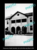 OLD LARGE HISTORIC PHOTO OF NARACOORTE SOUTH AUSTRALIA THE KINCRAIG HOTEL c1930