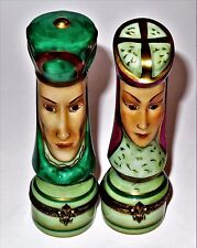 LIMOGES BOX - CHAMART - MATCHING KING & QUEEN CHESS PIECES - GAMES - TWO BOX SET