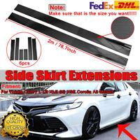 For Toyota Camry SE XSE 78.7'' Carbon Side Skirt Extension Rocker Panel Splitter