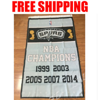 San Antonio Spurs Champions Flag NBA Basketball Banner 3X5 ft 2 Gromments