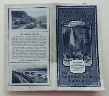 Baltimore & Ohio Timetable Summer 1931 Travel Routes  &  Fares To The West