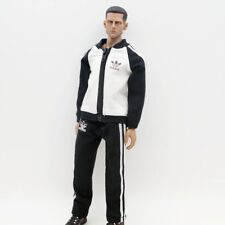 """Black Sport Outfits Male Uniform For 1/6 Scale 12"""" Action Figure 1:6 HT Toy"""
