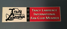 Tracy Lawrence International Fan Club Member Bumper Sticker Country Music New