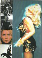 "BLONDIE Debbie Harry button dress magazine PHOTO / Pin Up / Poster 11x8"""