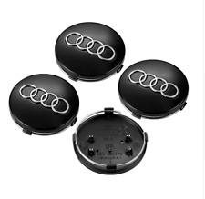 Logotipo de AUDI 4 un. 60 mm Centro De Rueda Caps negro elegante nuevo conjunto de accesorios de coche