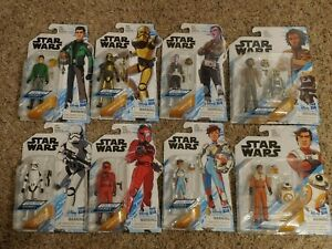 Star wars figure collection lot disney plus resistance complete set
