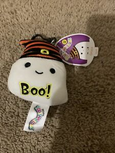 """2021 Kellytoy Squishmallows Grace the Ghost Clip On Plush Halloween NWT 3.5"""""""