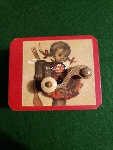 """JOHANNES BRAHMS """"Lullaby"""" Vtg. Music Box Swiss Mvmt. 3"""" Box REUGE Italy Works!"""