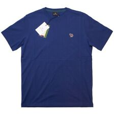 Paul Smith Mens Zebra Badge Regular Fit Short Sleeve Tee T-Shirt in Blue