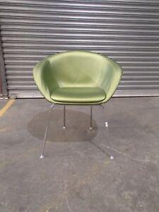 Home/Office Arm/Tub Chair Green Vinyl 34450