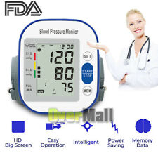 Automatic Wrist Blood Pressure Monitor Digital BP Meter USB Charging with Cuff