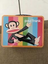 Paul Frank Julius Monkey METAL Lunch Box Tin Tote Multicolored NEW