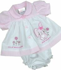 BabyPrem Premature Preemie Tiny Baby Clothes Girls Dresses Bunny Dress 3-8lb 3 - 5lb White