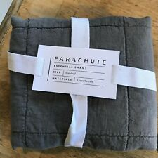 Parachute Home Single (One) Pillow Sham Quilted Standard Size Graphite Linen