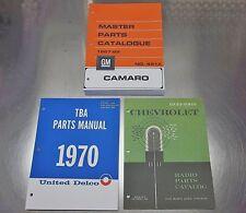 67-69 CAMARO MASTER + AC DELCO TBA + RADIO PARTS CATALOG COMBO