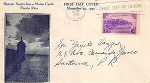 801 3c Puerto Rico, unknown cachet in blue only of Morro Castle [030421.204]