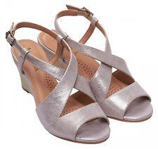 Ladies Formal / Casual Sandals Van Dal Allora Bamboo Metallic UK Size 3 D Fit