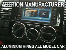 VW T5 Caravelle Multivan 03-10 Polished Aluminium Chrome Heater Control Rings x3