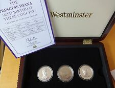 2011 3 Caja de moneda Set + certificado De Autenticidad 2 X Canadá $15 Alto Relieve William & Harry Reino Unido £ 5