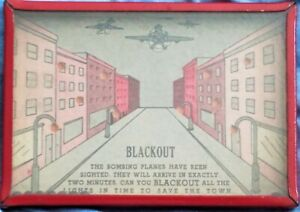 1940's WWII Dexterity Puzzle/Antique Black Out Game/War Planes/Bombers