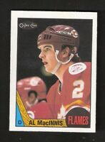 1987-88 OPC O-Pee-Chee AL MacINNIS #72 NEAR MINT Hockey Calgary Flames