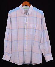 Eton SLIM Multicolor Lightweight SHEER Cotton Button Down Casual Dress Shirt XL