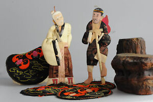 Lovely set of Chinese/Japanese dolls Li Tieh Kuai & Chang Kuo Lao Antique