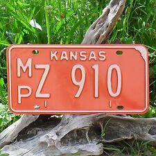Véritable Plaque D'Immatriculation KANSAS (910) USA License plate