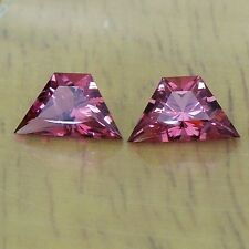 Rubellite red tourmaline pair Zambia 2.56cttw USA precision cut