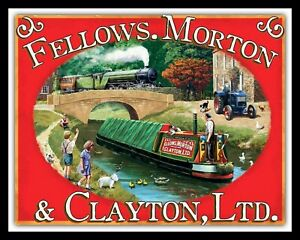 FELLOWS MORTON & CLAYTON CANAL BOAT RIVER BARGE METAL PLAQUE TIN WALL SIGN 1227