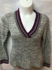 Grane Juniors Size Xl Sweater Maroon And Gray Vneck Warm Cozy