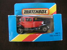MATCHBOX MAE IN MACAO MB-73 FORD MODEL A